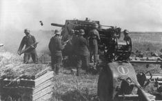 direct fire from 88-mm anti-aircraft gun FlaK 18 on the Eastern Front.