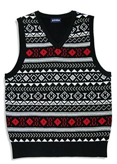 Blue Ocean Boys Jacquard Sweater Vest * To view further, visit