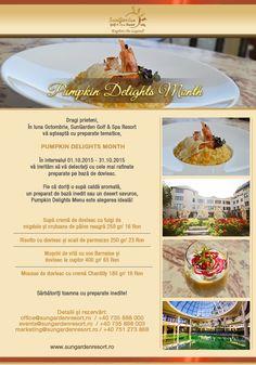 Pumpkin Delights Month - Sun Garden Resort Pumpkin Delight, Sun Garden, Doritos, Celebrations, Relax, Explore, Food, Essen, Meals