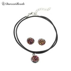 DoreenBeads Handmade Antique Silver Druzy /Drusy Resin Cabochon Pendant Necklace Silver Plated Earrings 48cm 16x14mm 1Set //Price: $8.00 & FREE Shipping // Get it here ---> http://bestofnecklace.com/doreenbeads-handmade-antique-silver-druzy-drusy-resin-cabochon-pendant-necklace-silver-plated-earrings-48cm-16x14mm-1set/    #best_of_Necklace