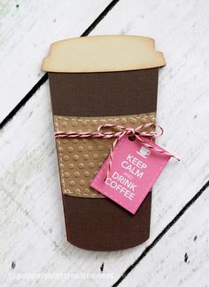 Gift Card Holder: Keep Calm and Drink Coffee