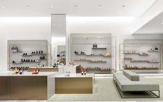 Burdifilek retail interior design, retail store design, retail shop, shoe s Boutique Design, Design Shop, Design Display, Shoe Store Design, Shop Front Design, Decoration Design, Shop Interior Design, Shoe Shop, Display Ideas