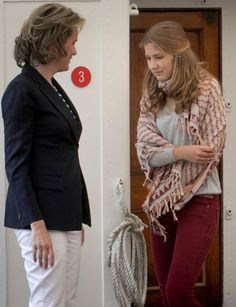 A teenage princess Elisabeth will turn 16 on October 25. The young woman is already as tall as her mother and has inherited her blond beauty and sweet features.