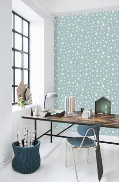 Lovely wall paper.  https://www.etsy.com/uk/listing/179190734/star-pattern-peel-and-stick-removable?ref=shop_home_active_1