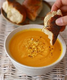 carrot ginger pureed soup