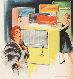 Frigidaire Styling Glamour 1956    LOVE the interchangeable accent colors