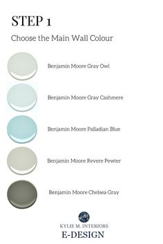 The best Benjamin Moore paint colours for gender neutral nursery or baby girl, boy room. Kylie M E-design