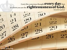You are the righteousness of God.