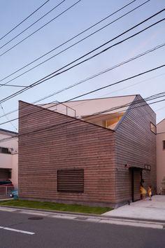 House in Ofuna by LEVEL Architects in Kamakura City, Japan.
