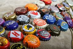 bottlecap hat band: you can buy them, but they're an easy DIY