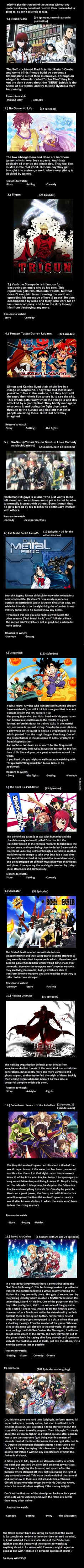 Looking for some Anime?