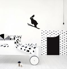 Building on its collection of cards, mugs and prints, HAM has launched a series of wall stickers that are perfect for children's rooms Creative Kids Rooms, Baby Wall Decor, Childrens Bedroom Decor, Ski Jumping, Kid Spaces, Elle Decor, Kids Furniture, Paper Goods, Wall Stickers