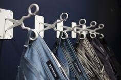 "DENHAM, Antwerp, Belgium, ""Close-up scissors hooks"", pinned by Ton van der Veer"