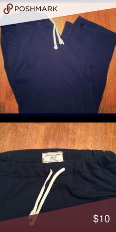 Old Navy sweats Navy blue sweats on great condition.  Drawstring waist and loose hem. Old Navy Pants Sweatpants & Joggers