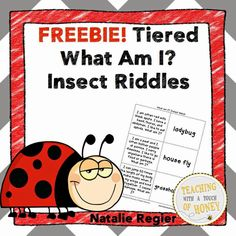 Classroom Freebies Too: Tiered What Am I? Insect Riddles FREEBIE!