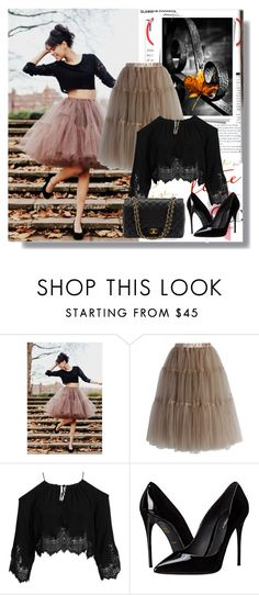 """Tulle Midi Skirt"" by rosely25 ❤ liked on Polyvore featuring Chicwish, Kiss The Sky, Dolce&Gabbana and Chanel"