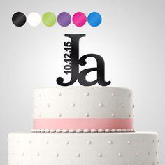 Cake Topper - Tortenfigur 'Ja' personalisiert von in due Der Hochzeitsshop auf DaWanda.com