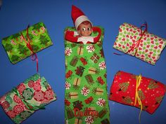 Elf Christmas Sleeping Bag via Etsy - for the felty elf that doesn't QUITE have everything yet. ~ @Elf Shaming