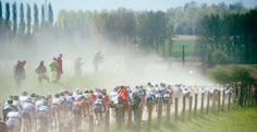 Team Garmin-Sharp Pro Cycling Team » Gallery: Grubers at Paris-Roubaix | When it is dry, Roubaix is dusty.