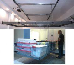 Auxx-Lift - Remote Controlled Storage Lift - Motorized Garage/Basement Storage Lift System