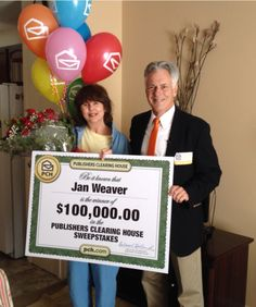 Congratulations to Jan Weaver of Maryland Heights, MO who was surprised with a big check for $100,000 today! #PCH #Congrats 2/5/2014
