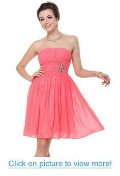 Ever Pretty Strapless Ruched Bust Padded Empire Waist Short Prom Dress 03601