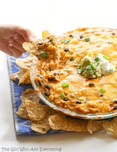 Chicken Burrito Dip - all of the flavors of your favorite burrito in dip form.