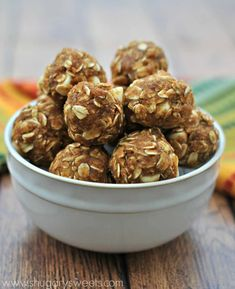 Chewy, sweet and flavorful, these Skinny Pumpkin Energy Bites will give you the energy you need after a workout without the guilt! The perfect New Years resolution recipe!