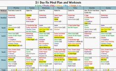 2300 calorie 21 Day Fix Meal Plan