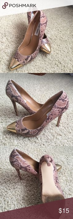 Shoes Size 6.5 Steve Madden all manmade material. Not good for wide feet. Steve Madden Shoes Heels