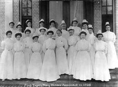 First U.S. Navy nurses who weren't nuns circa 1908. The Navy Nurse Corps.