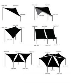 Shade Sail design ideas                                                                                                                                                                                 Más