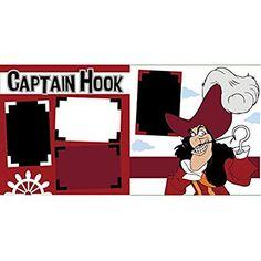 """Captain Hook"" Scrapbook Page Kit Disney Diy, Disney Crafts, Disney Love, Disney Cruise, Disney Scrapbook Pages, Scrapbook Page Layouts, Scrapbooking Ideas, Scrapbook Kit, Disney Magic Kingdom"