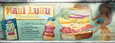 Maui Luau Sandwich, drawn by Ingvard the Terrible  #KraftRecipes #Illustration #TheyDrawAndCook #sandwich