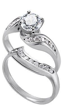 Bypass ring, wedding band inspiration