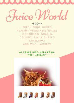 Juice World: http://juiceworld.com.sa  - Healthy Milkshakes: Choco shakes, banana shakes, vanilla shakes and much more...
