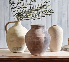 Shop vase from Pottery Barn. Our furniture, home decor and accessories collections feature vase in quality materials and classic styles. Vase Centerpieces, Vases Decor, Ceramic Vase, Ceramic Pottery, Antique Pottery, Pottery Pots, Blue Pottery, Thrown Pottery, Pottery Barn