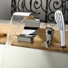 Kokols Usa Polished Chrome 1-Handle Tub And Shower Valve With Handheld
