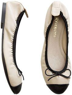 dark-toe-capped ballet flat