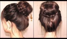 양말을 이용한 똥머리 (Braided Tips Sock Bun) - YuKyeomi - Vingle ...