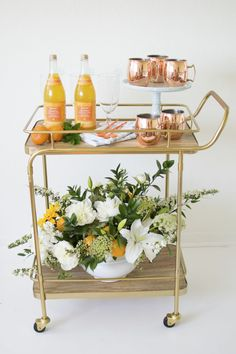 How to host 'A Little Cutie is on the way' Baby Shower to shower a mom-to-be with love and welcome a new bundle of joy into the world! Bar Cart Styling, Bar Cart Decor, Baby Girl Shower Themes, Baby Shower Decorations For Boys, Fun Cupcakes, Bridal Shower, Shower Party, Entertaining, Joy
