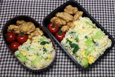 Three Colors Fried Rice Bento Box Recipe