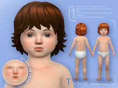 Sims 4 CC's - The Best: Toddlers Skin by S-Club