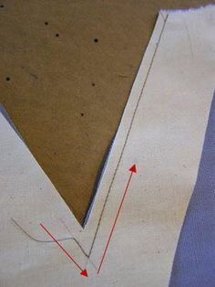 How to sew V necklines with facings - from: http://www.fashion-incubator.com/archive/how-to-sew-v-necklines-with-facings/