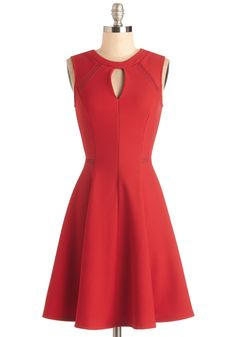 Moxie Must-Have Dress in Red. Put your spunky disposition on display with this crimson dress! #red #modcloth