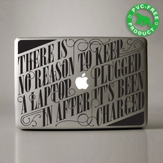 Want to decorate your MacBook with some cool stickers? Consider buying one these cool typographic stickers by design. Macbook Pro Decal, Macbook Stickers, Wall Stickers, Mac Decals, Phone Decals, Macbook Laptop, Creative Review, Creative Fonts, Creative Ideas