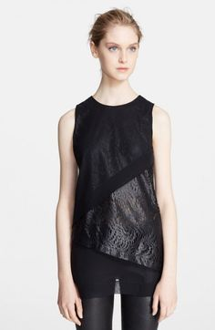 Robert Rodriguez Lace Overlay Illusion Top Black 6 | Clothing