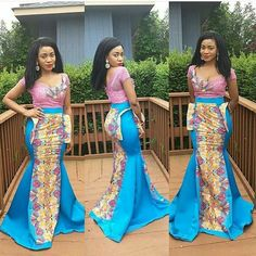 Ankara fabrics are known for their versatility and uniqueness; and in recent times fashion designers and tailors have leveraged on these qualities of the fabric to produce amazing creative styles combined… African Dresses For Women, African Attire, African Women, African Wear, African Outfits, African Beauty, Ankara Gown Styles, Latest Ankara Styles, Ankara Dress