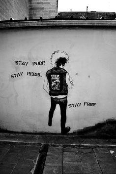 Stay rude, rebel, free. The virus. Wall art.<<< the virus. Fuck yeah!!!