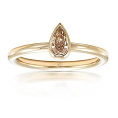 Light pink-brown diamond stack ring